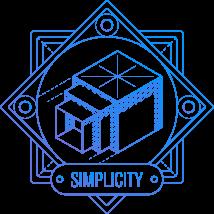 Nested boxes symbolizing simplicity