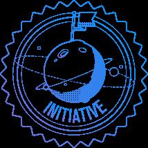 Flag on the moon symbolizing initiative